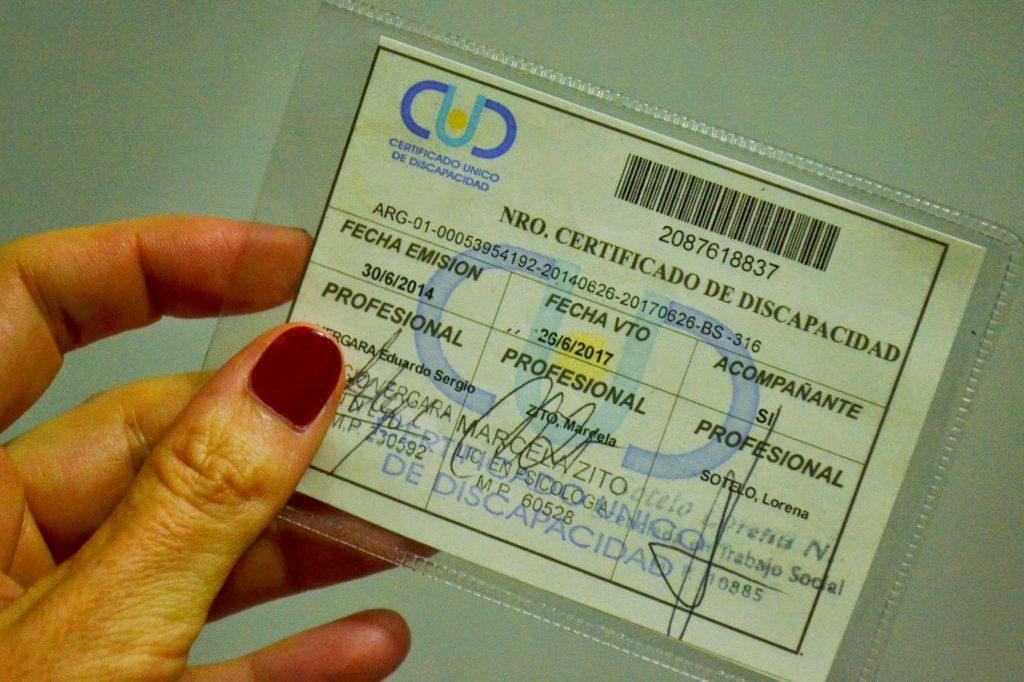 Certificado para Pensiones por discapacidad
